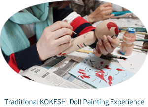 Trial KOKESHI traditional wooden doll painting plan.